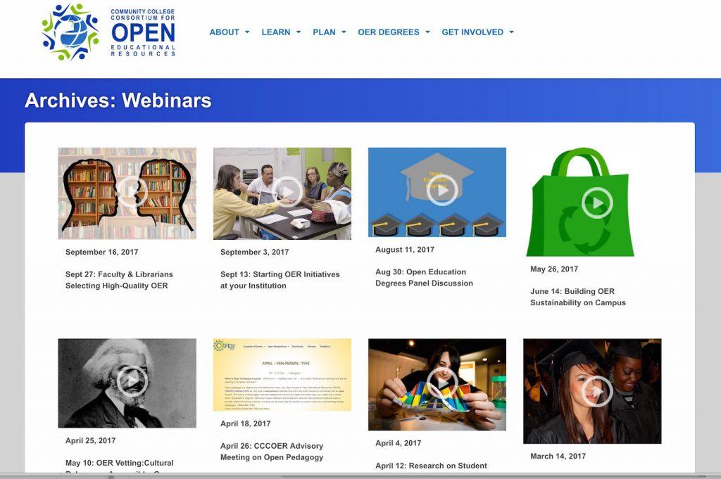 cccoer webinar archives