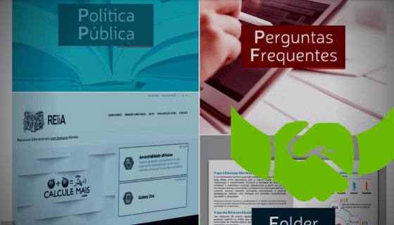 Screenshot of a website with two titles: Política Pública, y Preguntas frecuentes; a green icon showing a hand shake.