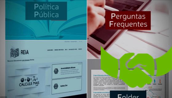 Screenshot of a website with two titles: Política Pública, y Preguntas frecuentes; a green icon showing a hand shake.