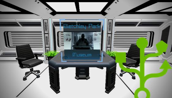 A 3D futuristic environment