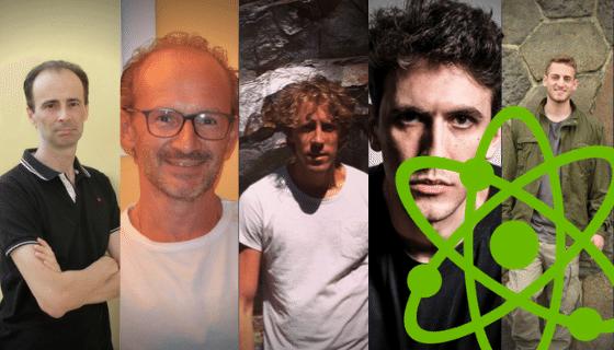 Faces of five middle age men